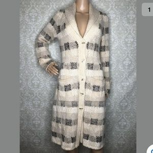 Far Away From Close bent plaid duster cardigan